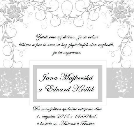 Originálne svadobné oznámenia,