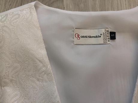 Pánska svadobná vesta,kravata a manžety, 38