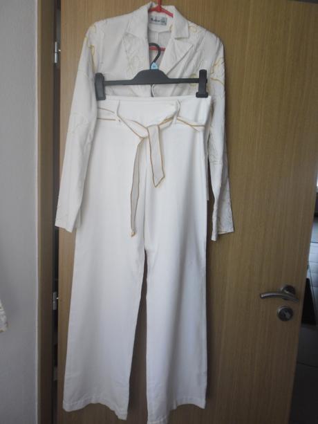 Nohavicový kostým dámsky, 36