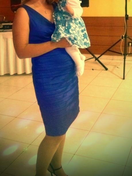 krátke modré šaty 40-42, 40
