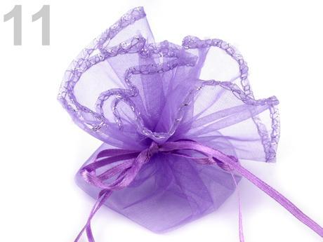 darčekové vrecká na darčeky 22 cm fialová,