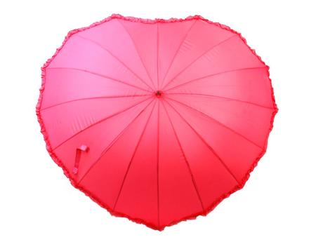 Dáždnik v tvare srdca,