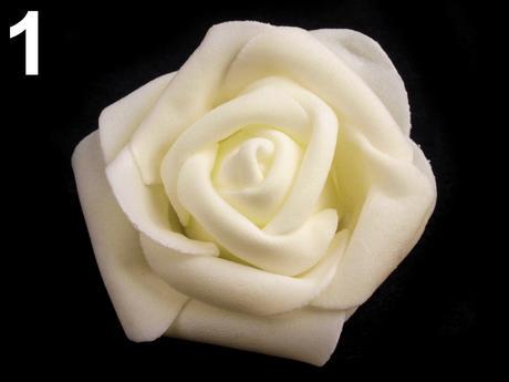 Dekorácia ruža 6 cm rôzne farby,