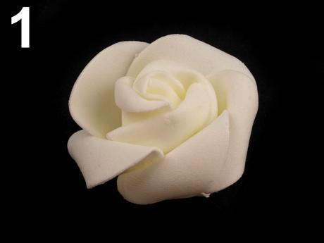 Dekorácia ruže 4,5 cm rôzne farby,