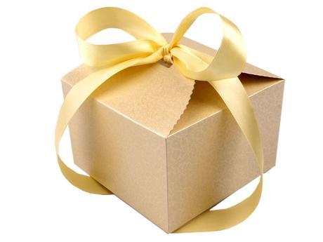 Luxusná krabička zo stuhou na koláčiky či darčeky,