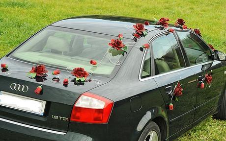 Luxusná svadobná výzdoba na svadobné auto,