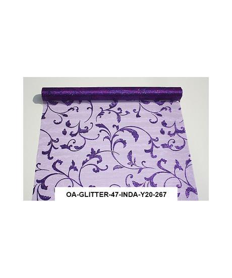 Organza glitrovana 47 cm x 5 m fialová,