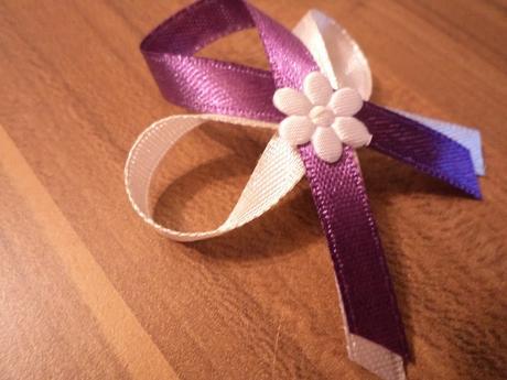 Pierka pre svadobných hostí, fialové,