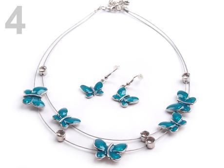 Set náhrdelník, náušnice BUTTERFLY,