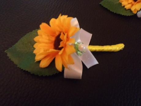 Svadobné pierka mini slnečnice,