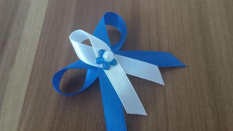 Svadobné pierka modré jemnučké,