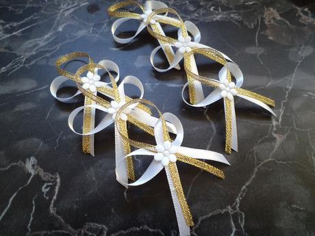Svadobné pierka,zlaté,