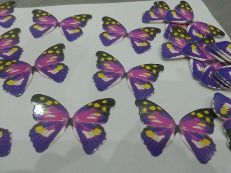 Motýlci na různé dekorace 45 kusů,