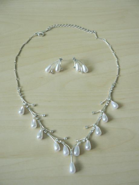 Svadobný náhrdelník + naušnice,