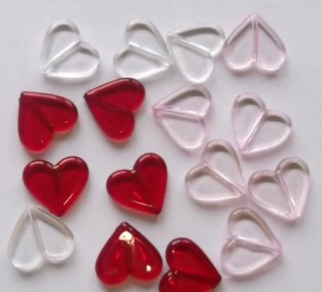 dekorace ve tvaru srdce,