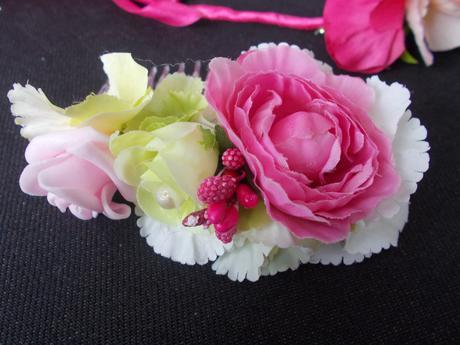 Kvetinková čelenka s hrebienkom,