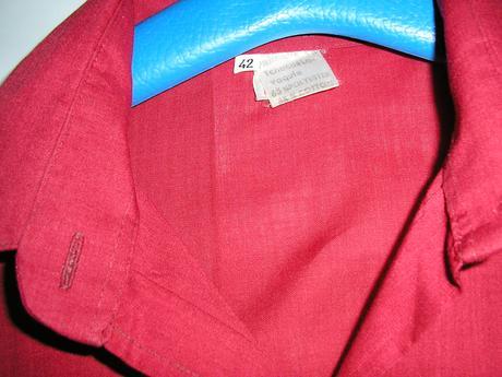 114. Bordová dámska košeľa , 42