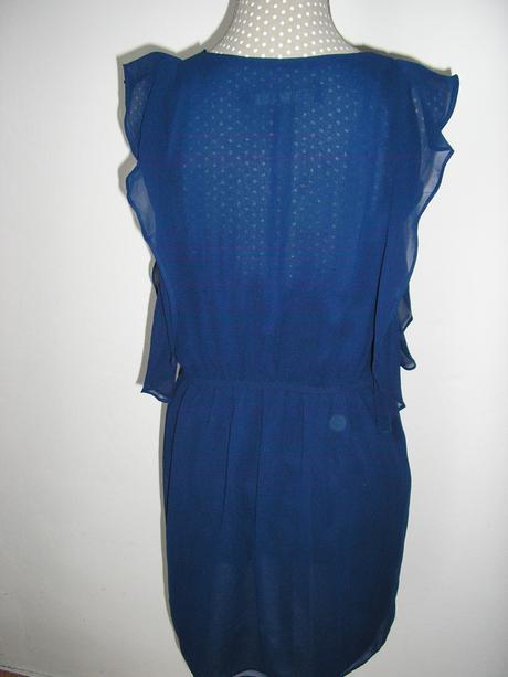 383. ZARA tmavo modré šaty , XS