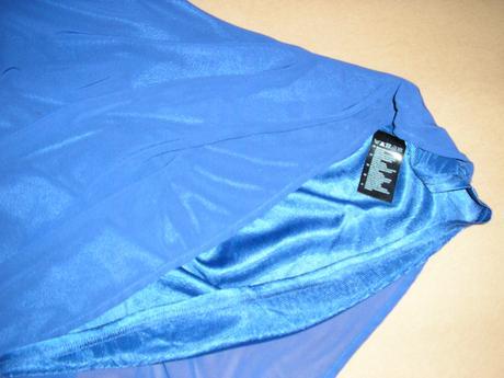 385. H&M tm. modré šaty s gol., 38
