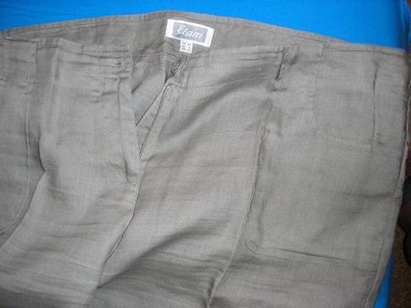 784. Sivé nohavice, XL