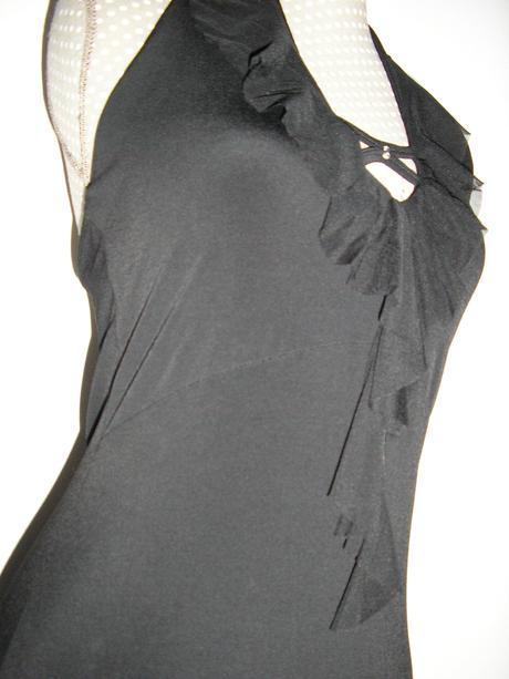 858. Čierne spol. šaty     , M