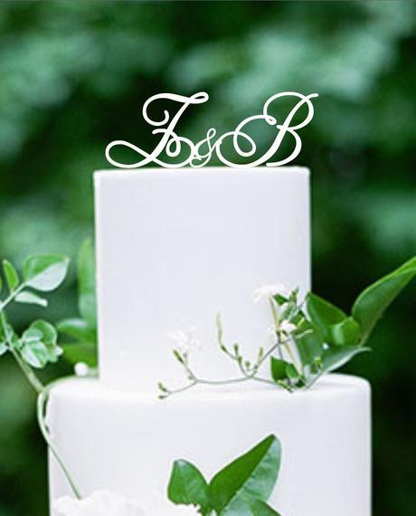 "ozdoba na tortu ""iniciálky"","