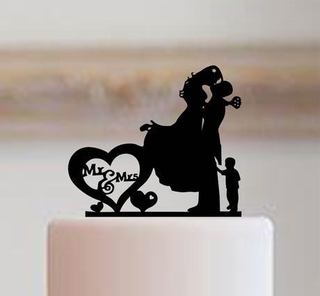 """ozdoba na tortu - """"Mr&Mrs + chlapec"""","""