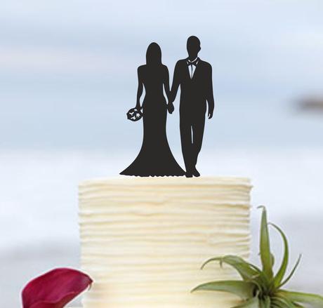 "ozdoba na tortu ""nevesta a ženích"","
