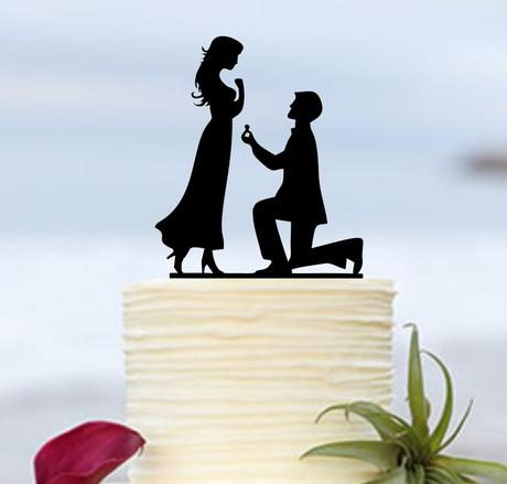 ozdoba na tortu - ženích a nevesta,