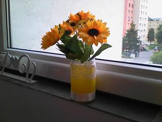 Umelé slnečnice-kytice,