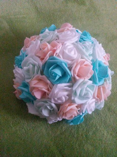 Květiny na auto nevěsty,