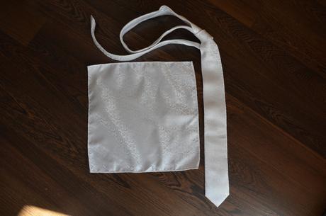 Svadobná kravata + vreckovka Collection Adam,