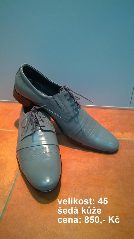 pásnké šedé boty, 45