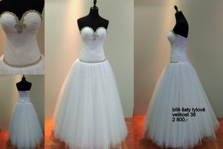 Svatební tylové šaty, 38
