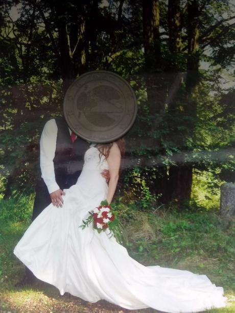 Italské hedvabné svatební šaty Enzoani Blue, 38