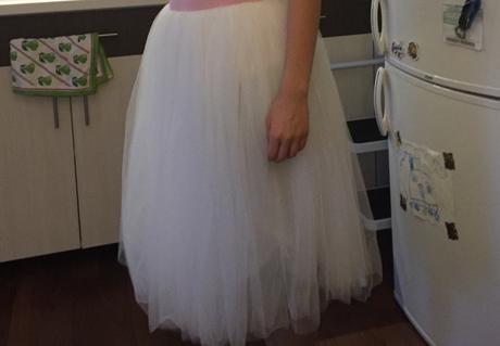 Biela tutu sukňa, S