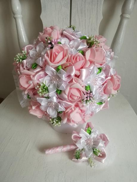 látková kytica -ružová,pošta v cene,