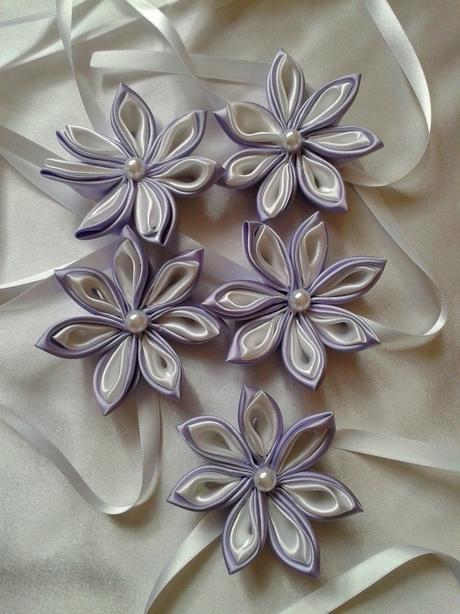 Náramky pre družičky -fialovo biele,