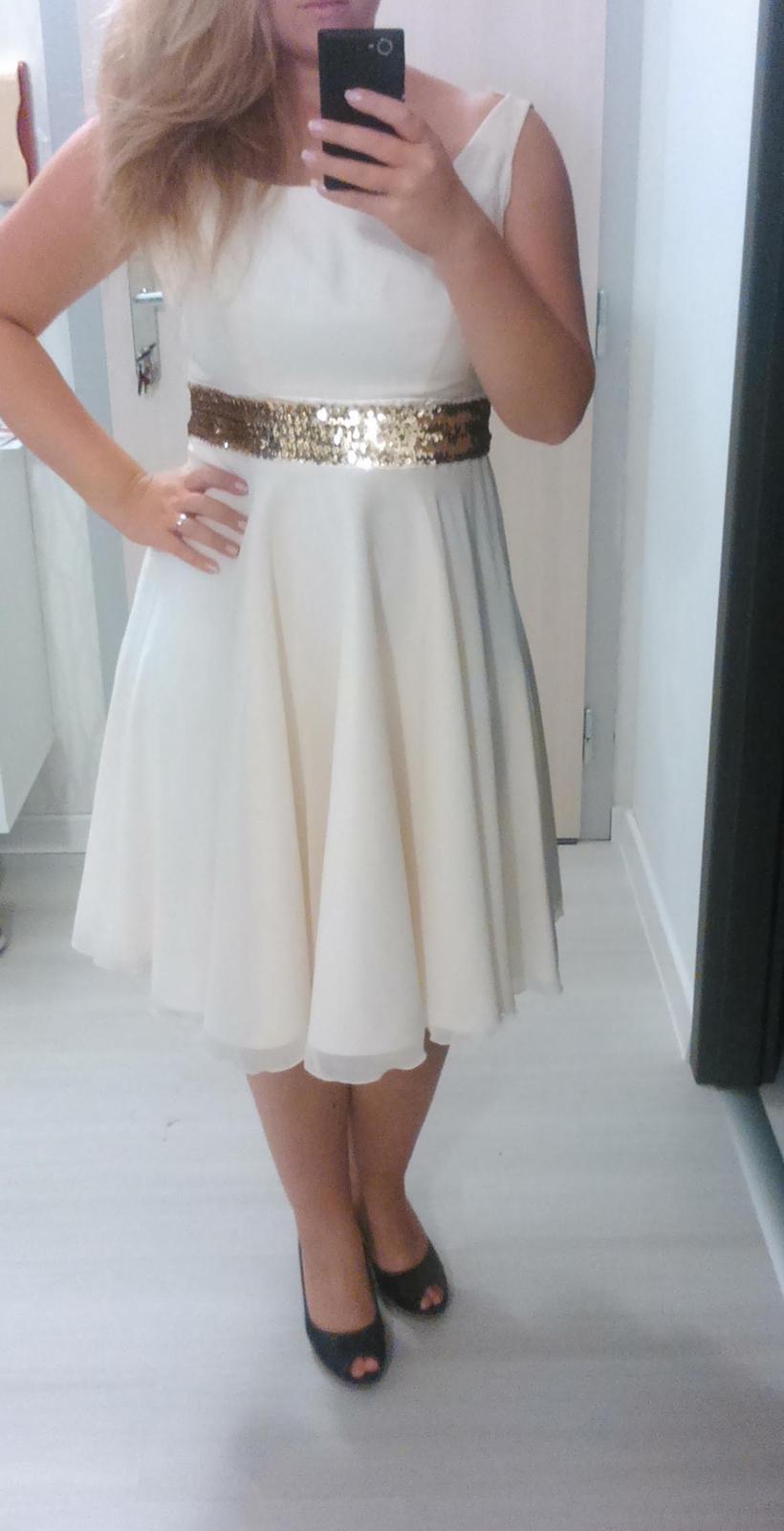 663e269c0a0 Béžovo zlaté šaty