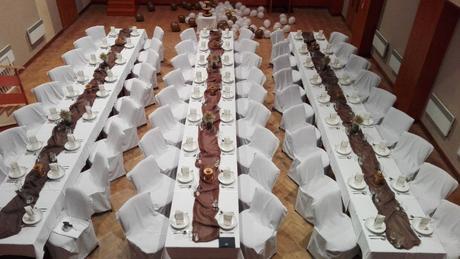 svatební potahy na konferenční židle,