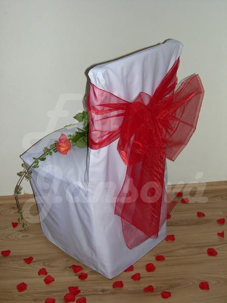 svatební výzdoba- cena i s mašlí,