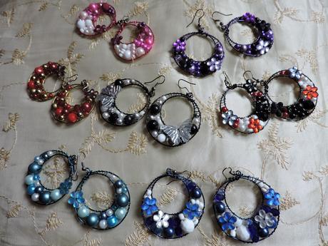 farebné krúžky handmade,