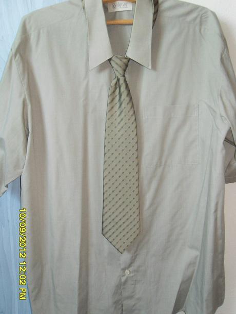 Košeľa-krátky rukáv+ kravata , 46