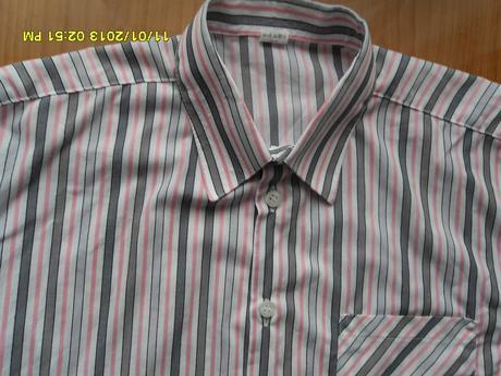 Pásikavá sivo-rúžová košeľa č.34/158, 34