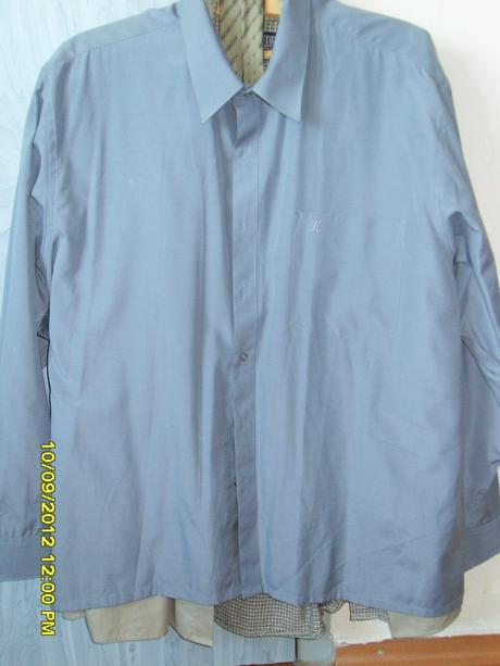 Sivá košeľa s dlhým rukávom do obleku , 46
