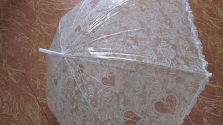 srdiečkový dáždnik,