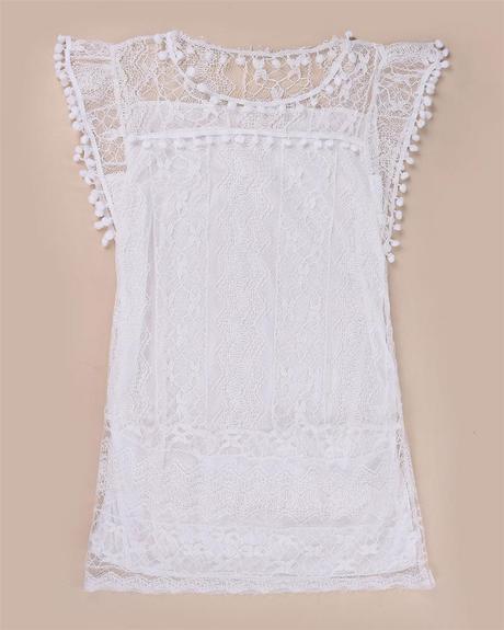 Bílé, lehké šaty, 38
