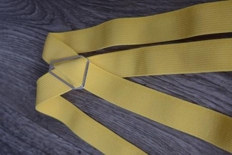 Žluté kšandy pánské, handmade,