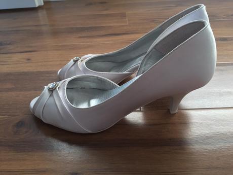 Pohodlné svadobné topánky s kryštálikom veľ.37/38, 37