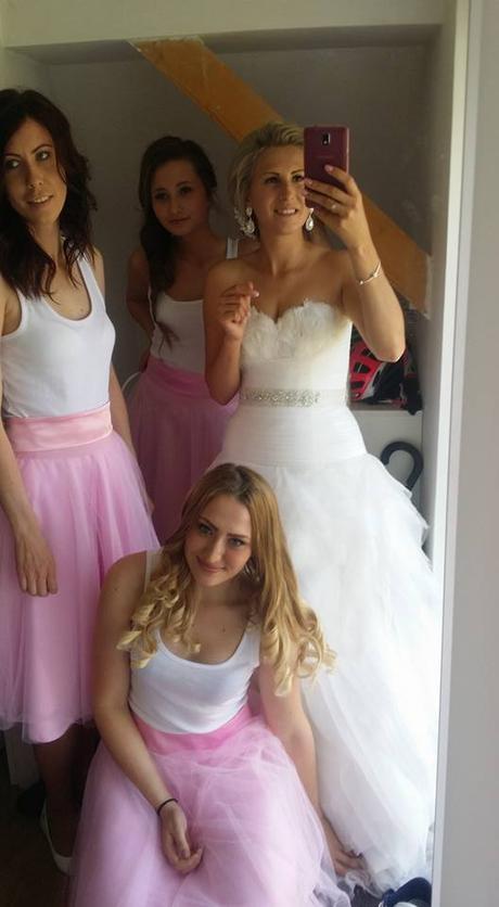 Růžová sukně pro družičky tutu, 36